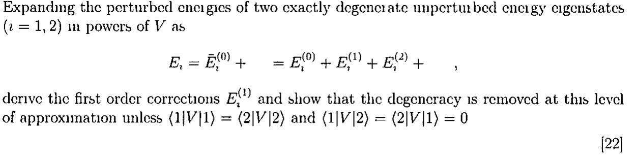Expanding the peturbed energies of two exactly deg