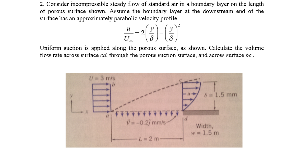 solved 2 consider incompressible steady flow of standard