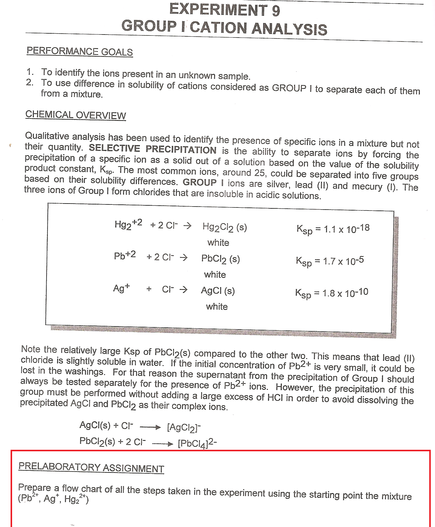 lab reports on testing for cations and anions 1 experiment one: qualitative analysis of an inorganic mixture in this experiment, the student will learn how to test for inorganic cations and anions, then identify the.