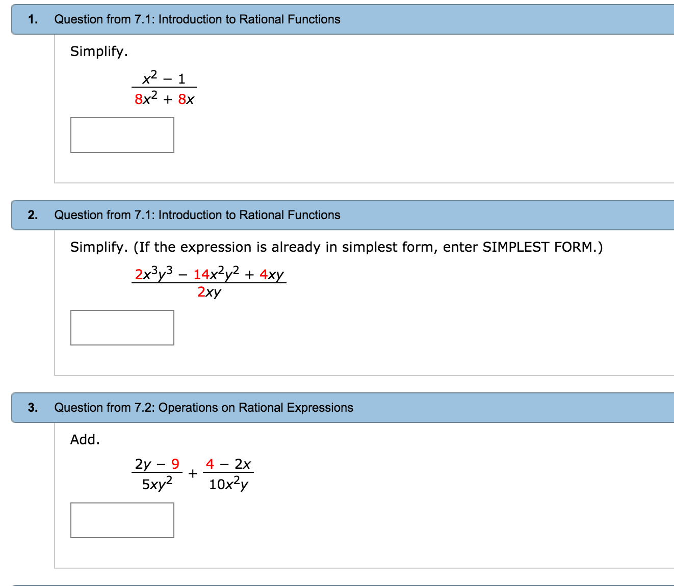 simplest form functions  Solved: Introduction To Rational Functions Simplify. X^13 ...