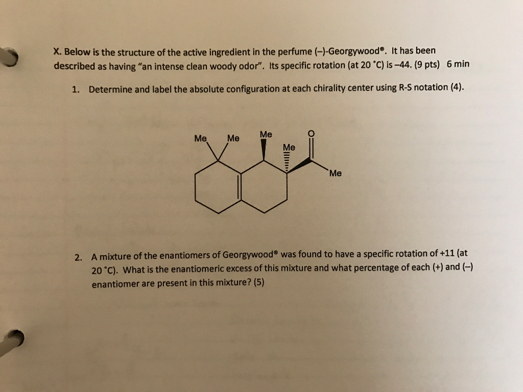 Solved: Below Is The Structure Of The Active Ingredient In