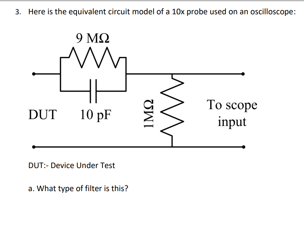 Solved: 3  Here Is The Equivalent Circuit Model Of A 10x P