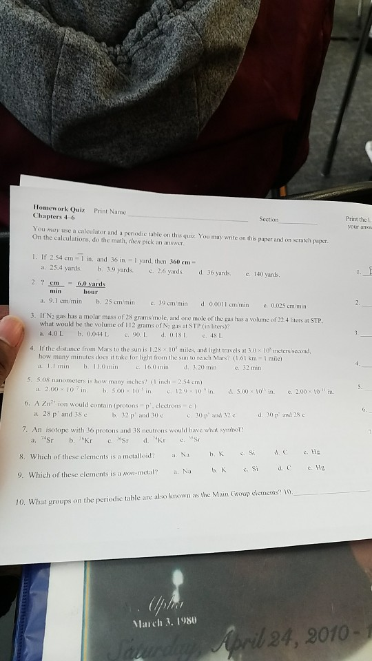 Chemistry archive february 27 2018 chegg homework quiz print name chapters 4 6 section print the l you may use a urtaz Images