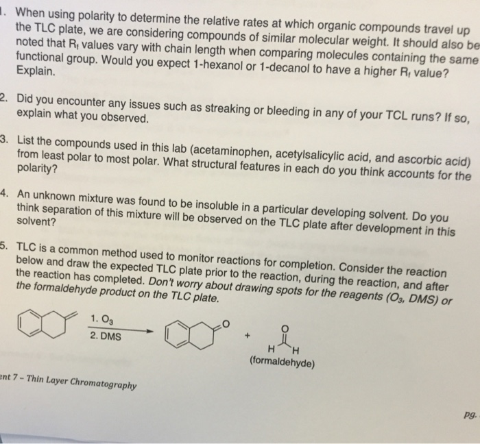 organic chemistry lab questions and answers