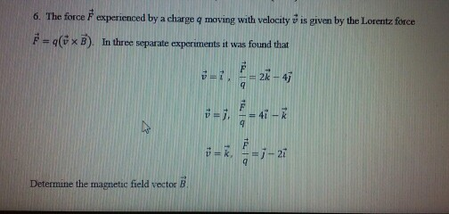 how to find force given velocity
