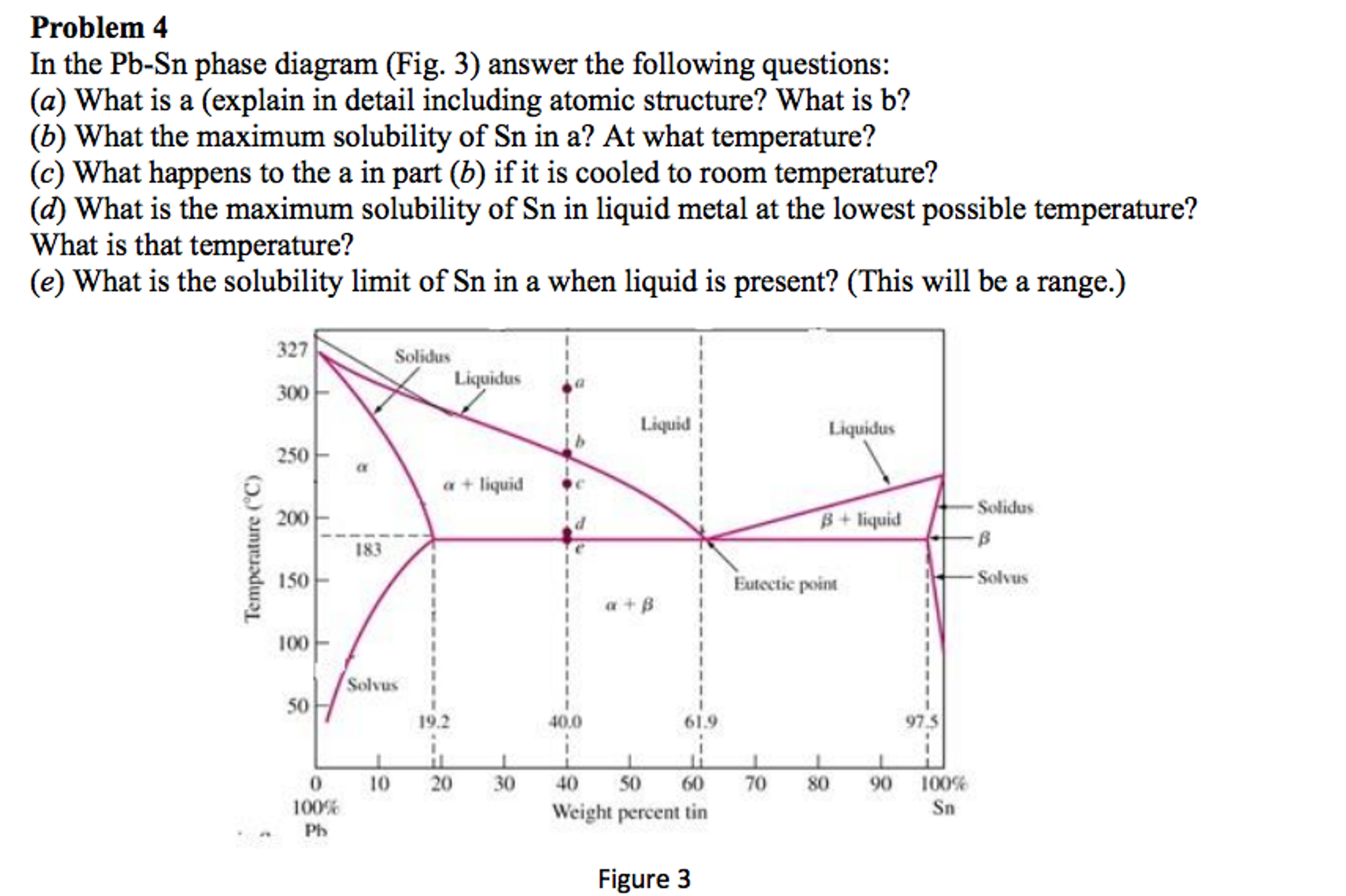 Solved in the pb sn phase diagram fig 3 answer the fol in the pb sn phase diagram fig 3 answer the fol pooptronica Images