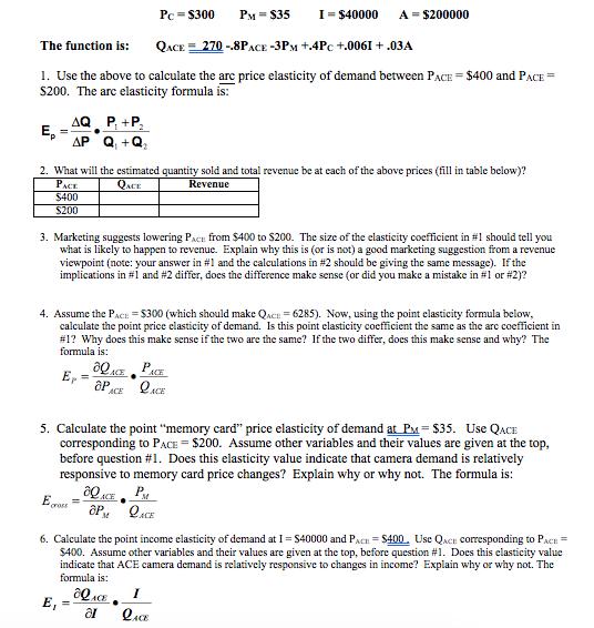 how to calculate arc elasticity