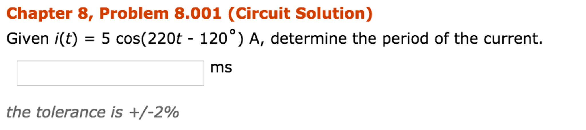 Electrical engineering archive november 20 2016 chegg chapter 8 problem 8001 circuit solution given fandeluxe Choice Image