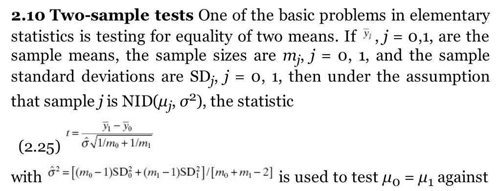 Solved: 2 10 Two-sample Tests One Of The Basic Problems In