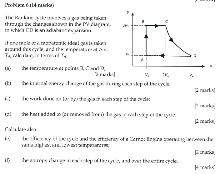 Solved Problem 6 14 Marks The Rankine Cycle Involves A