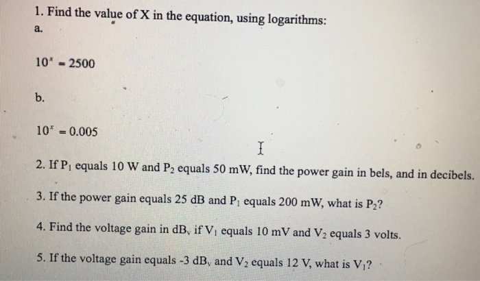 Electrical engineering archive november 24 2016 chegg find the value of x in the equation using logarit fandeluxe Image collections
