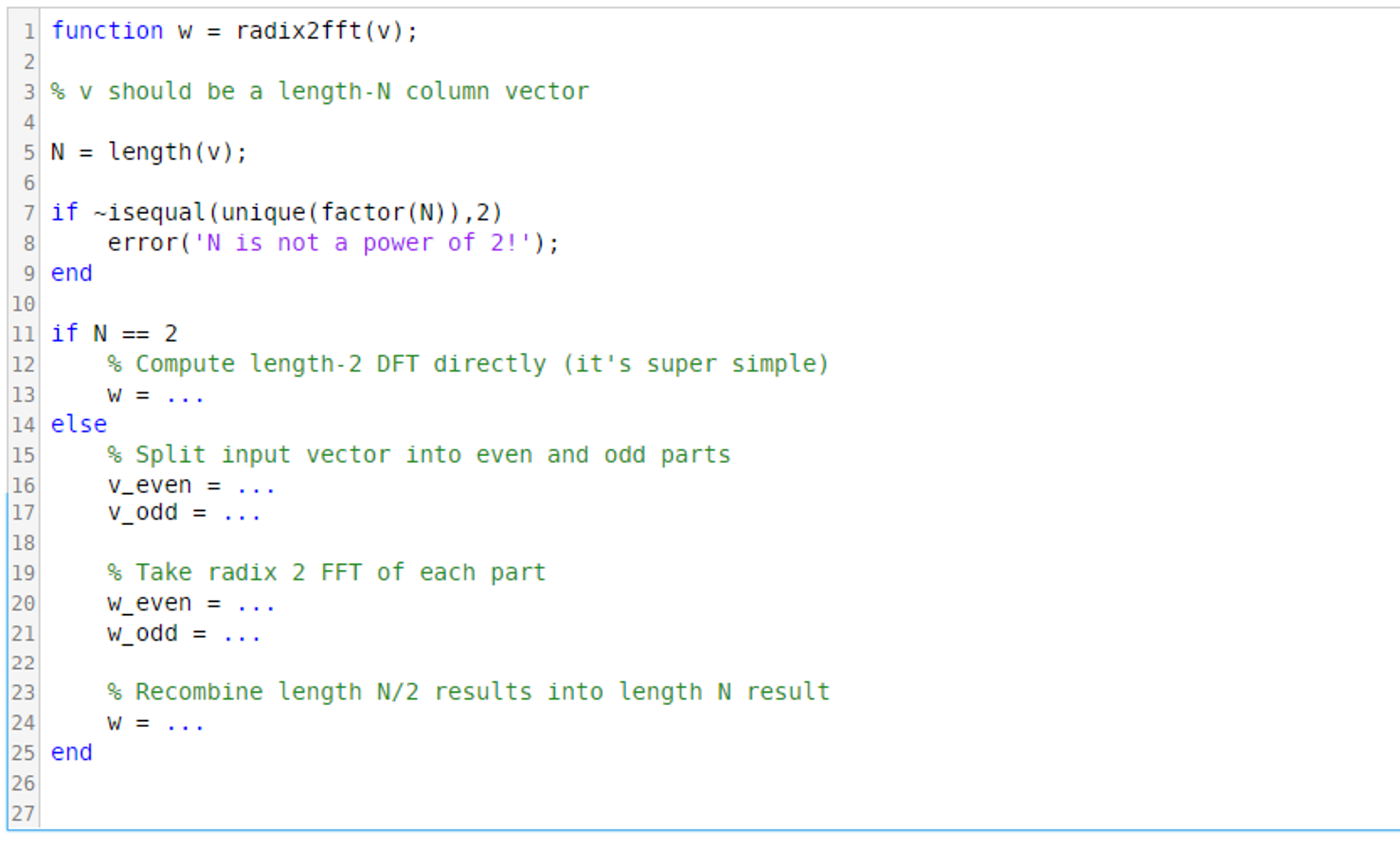 Edit The MATLAB Code To Compute A DFT Whose Length
