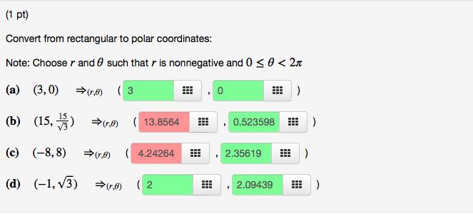 Solved: Convert From Rectangular To Polar Coordinates: Not