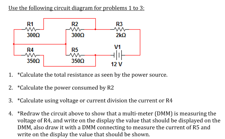 Terrific Solved Use The Following Circuit Diagram For Problems 1 T Wiring 101 Cajosaxxcnl