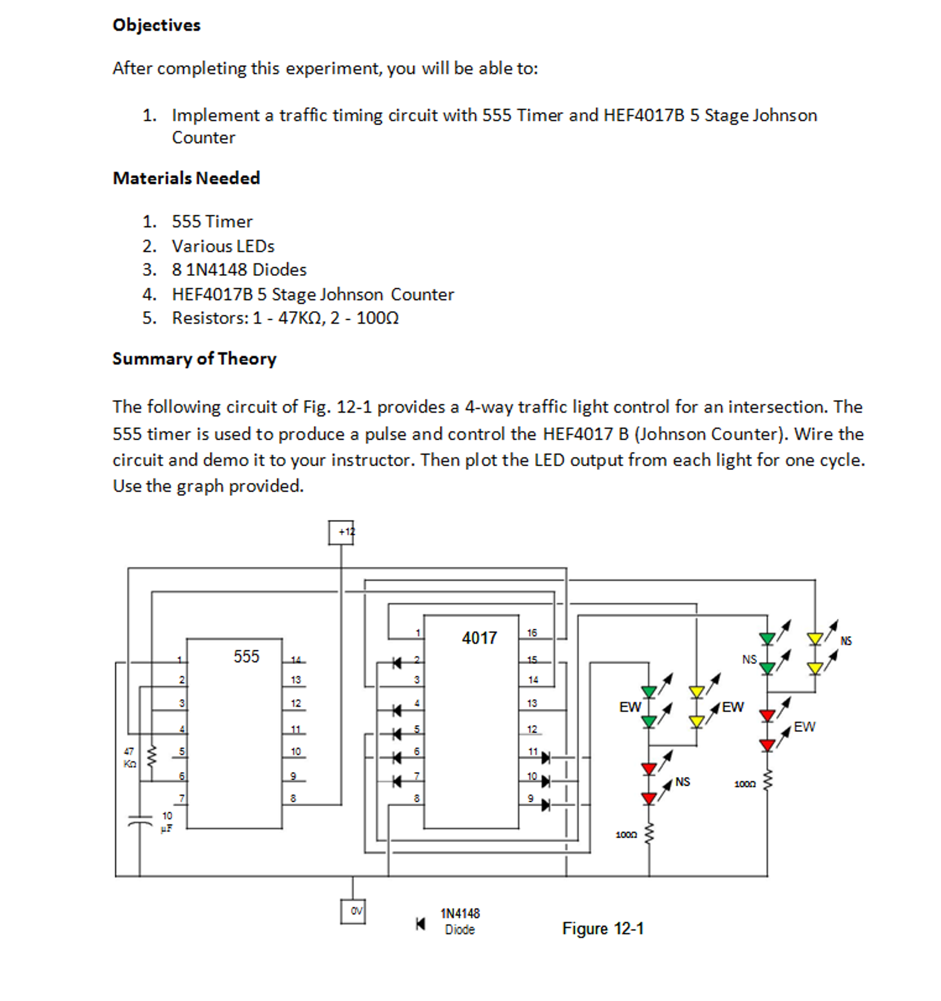 Solved Not Sure How To Create The Circuit From Figure 12 Going Make Your 555 Ic Is Working For That Go Objectives After Completing This Experiment You W