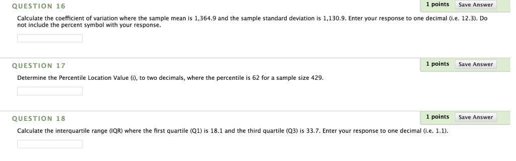 Solved Calculate The Coefficient Of Variation Where The S