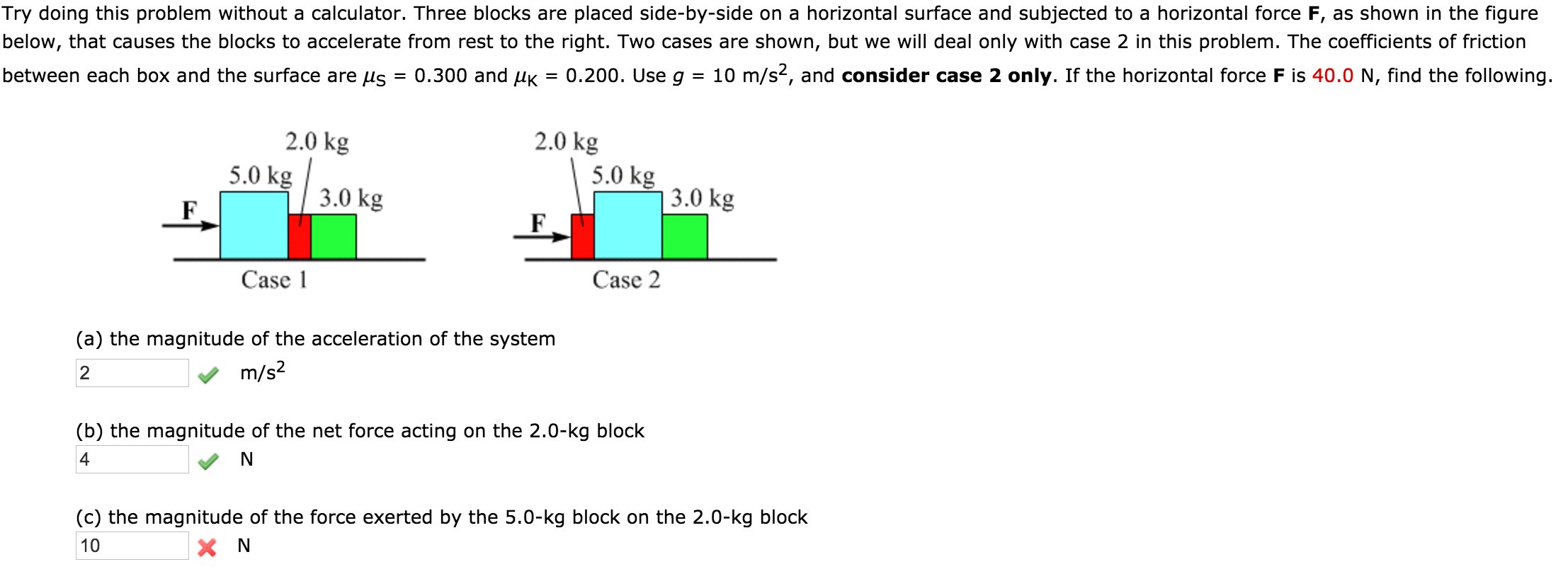 Solved Try Doing This Problem Without A Calculator Three Block Diagram Question Blocks Are Placed Side By On Horizontal