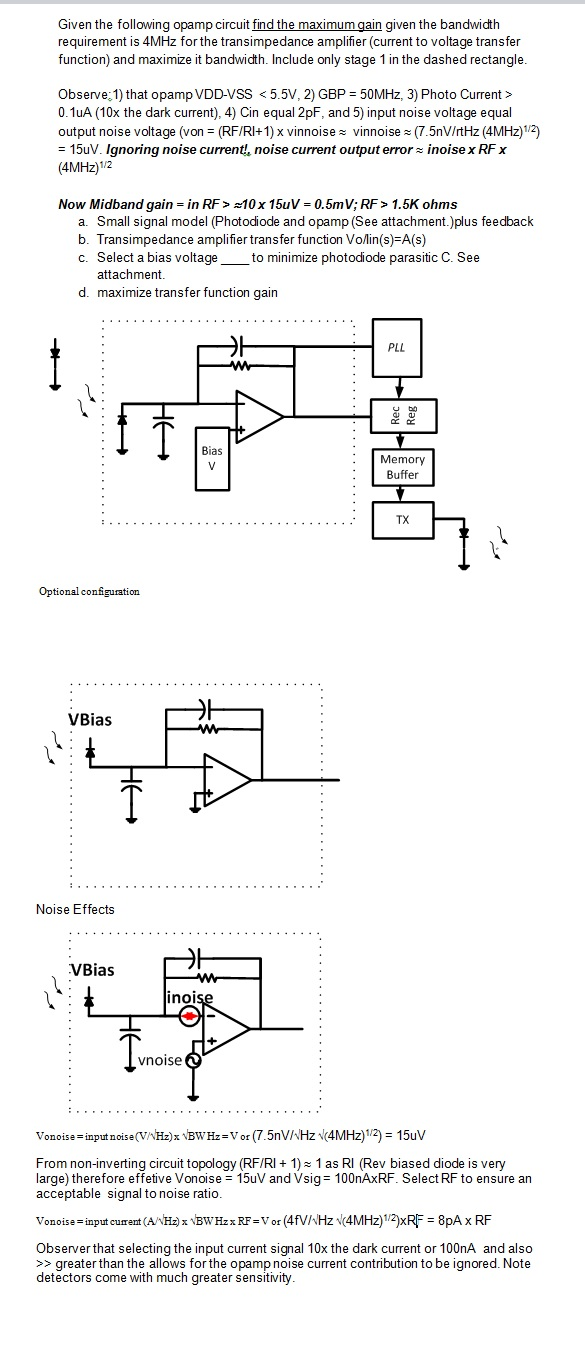 Given The Following Opamp Circuit Find Maximum Rf Buffer Stage Question Gain Bandwidth Requirement Is 4mhz F