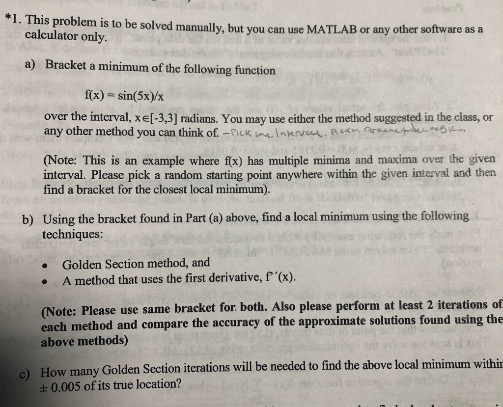Solved: *1  This Problem Is To Be Solved Manually, But You