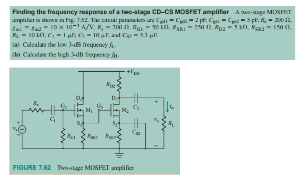 Solved: Finding The Frequency Response Of A Two-stage CD-C