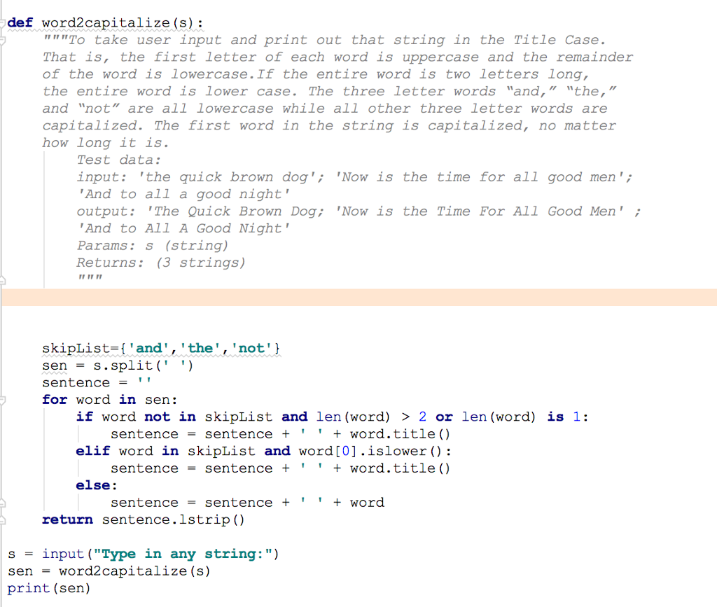 Solved Python Explain The Code With Comments For Each S