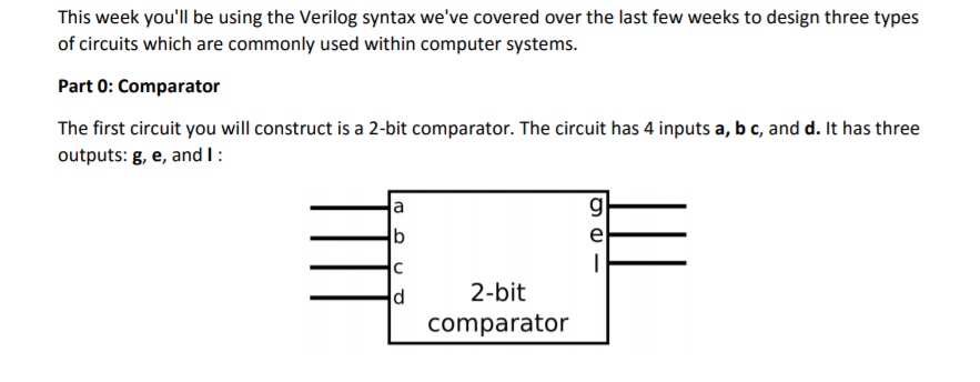 Solved: This Week You\'ll Be Using The Verilog Syntax We\'ve ...