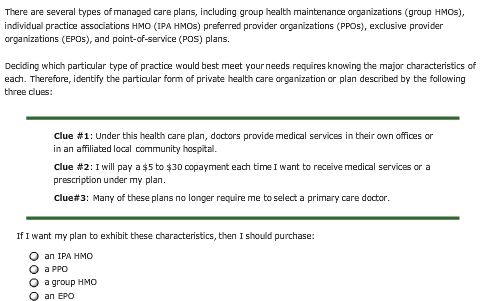 Health Care Plans >> Solved Comparing Private Insurance P Alison Purchases Hea
