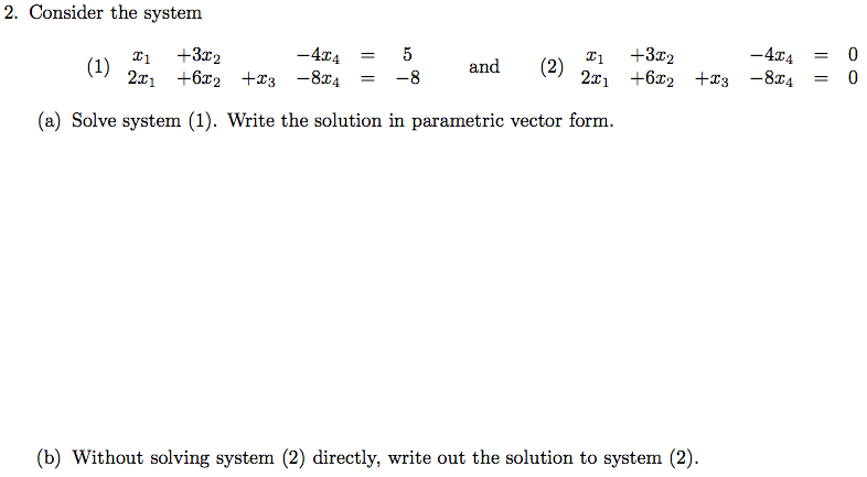Solved Linear Algebra I Need Help Please Help Me Follow Chegg Com