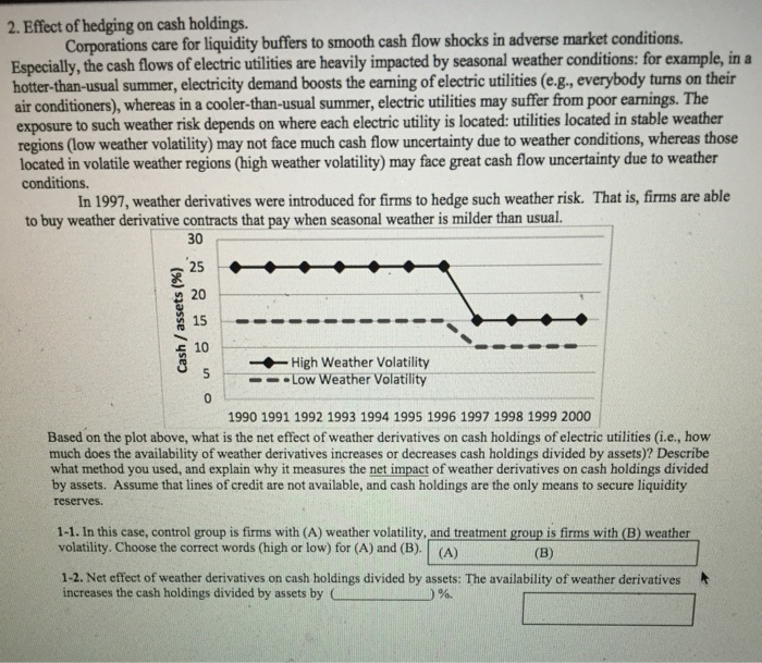 Effect of hedging on cash holdings. Corporations