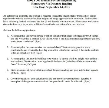 engt 305 human factors engineering homework 1 di chegg com