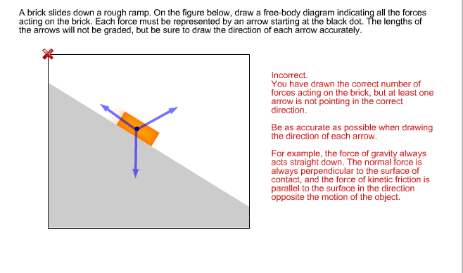solved a brick slides down a rough ramp on the figure be rh chegg com