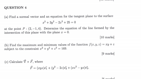 How To Find Normal Vector From Plane Equation