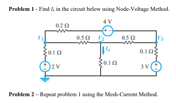 Problem 1 Find I In The Circuit Below Using Node Voltage Method W