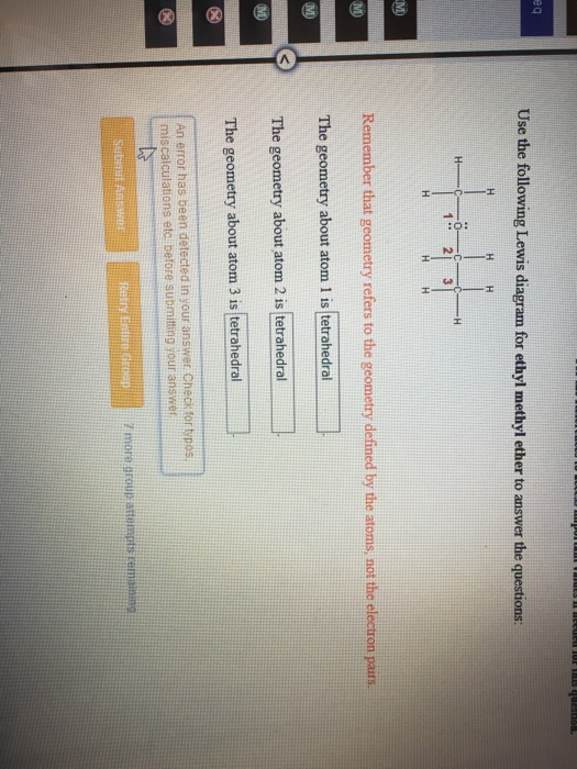Solved  Use The Following Lewis Diagram For Ethyl Methyl E