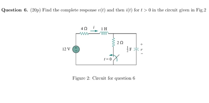 Find the complete response v(t) and then i(t) for