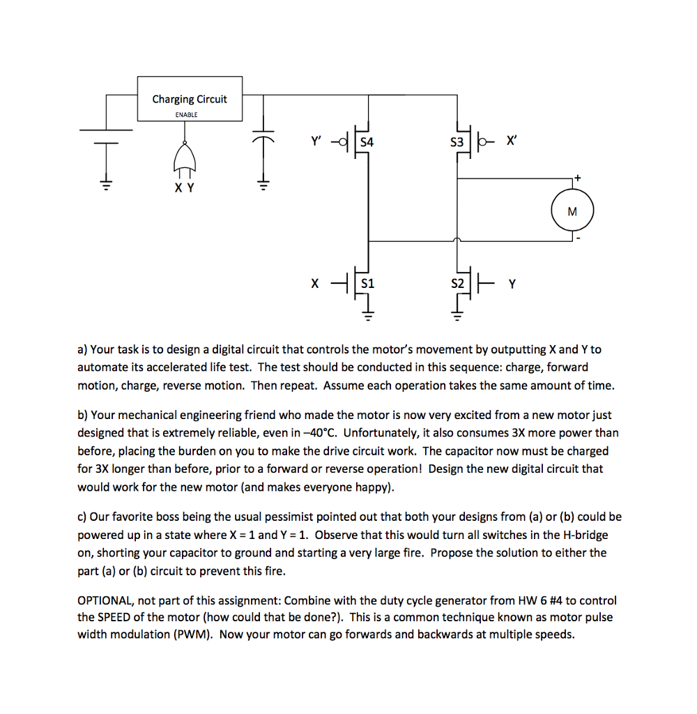 One Type Of Dc Motor Drive Circuit Known As The H Bridge Diagram See More Show Transcribed Image Text Possesses Ability To Select Polarity Applied