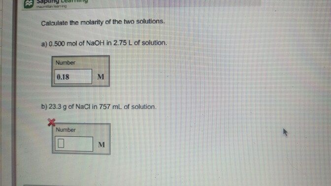 how to prepare ml of a molarity solution