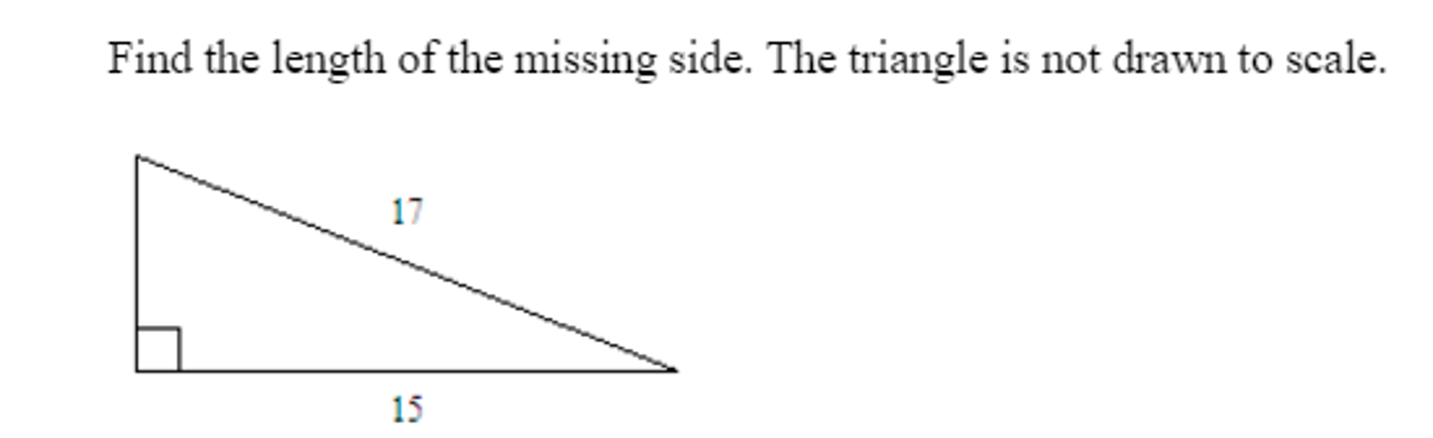 How to find the side of the triangle
