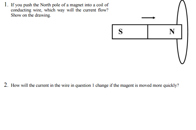 Solved if you push the north pole of a magnet into a coil ignition wiring diagram if you push the north pole of a magnet into a coil