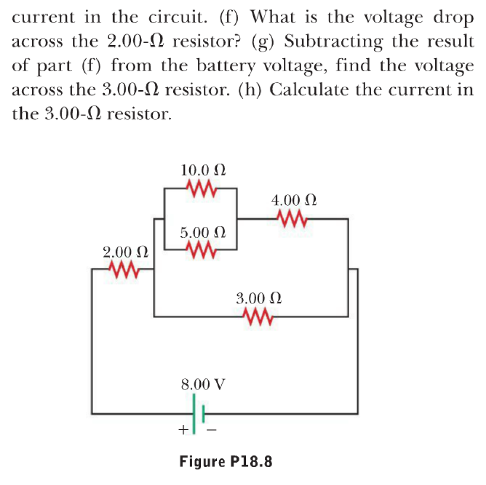 Solved 8 Consider The Circuit Shown In Figure P188 A Resistance Parallel Cal Culate Equivalent Of 100 And 500 Resistors Connected