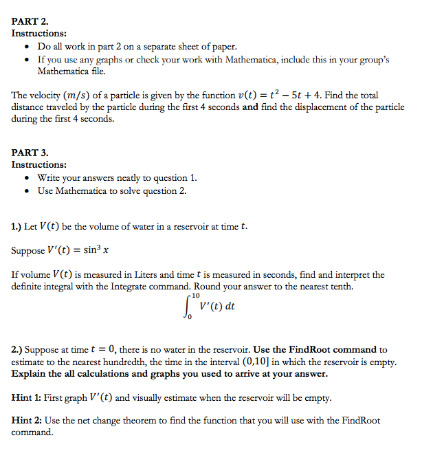 Solved Part 2 Instructions Do All Work In Part 2 On A S
