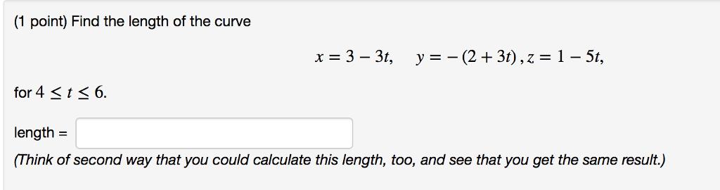 Mathwords: arc length of a curve.