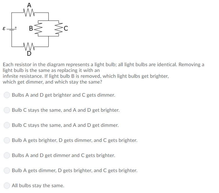 Solved Each Resistor In The Diagram Represents A Light Bu