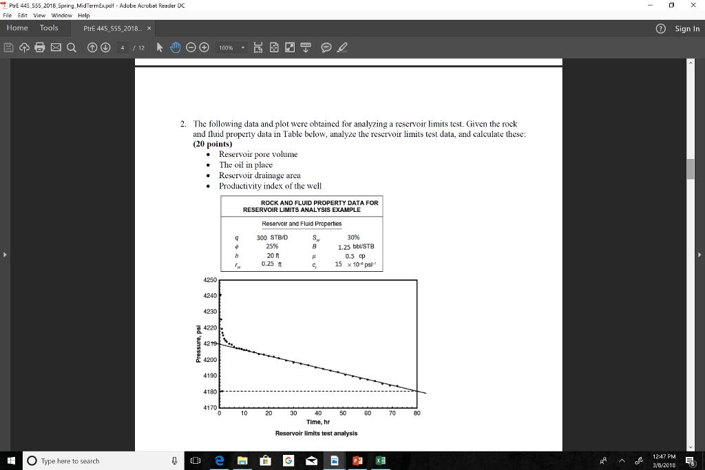 Solved: PtrE 445 555 2018 Spring MidTermEx pdf - Adobe Acr