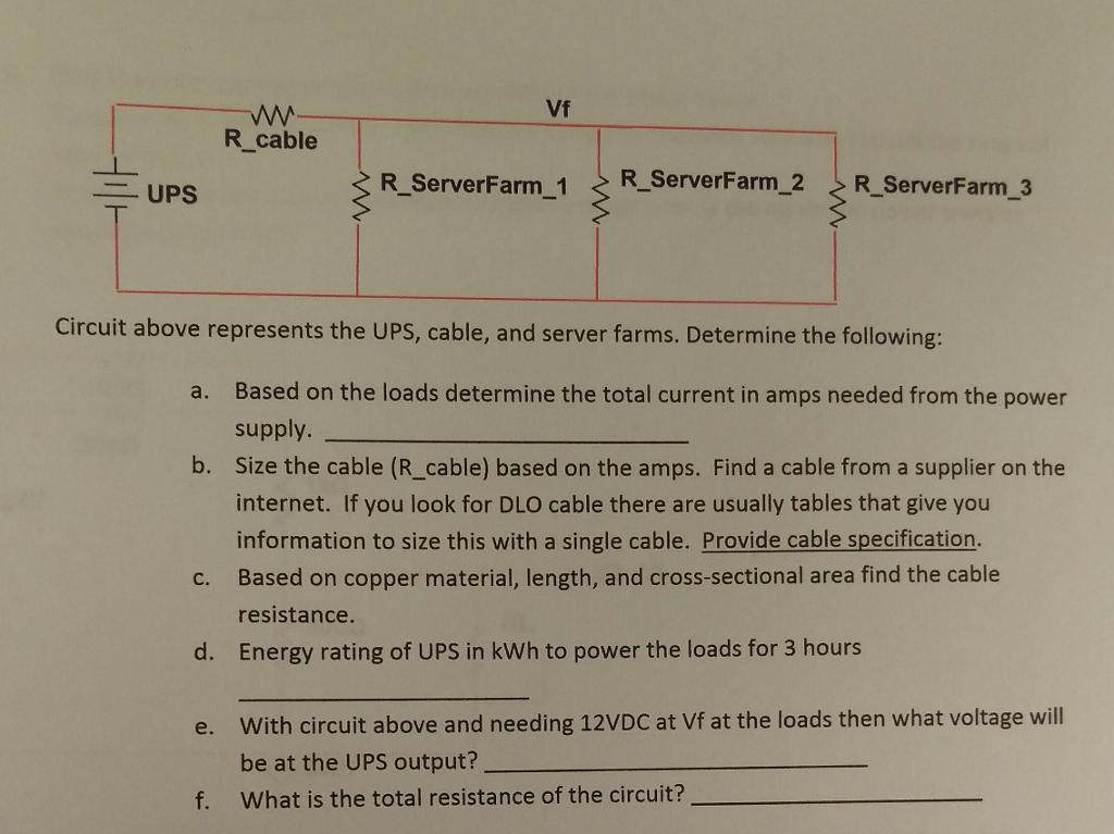 W Vf R cable UPS RServerFarm1 RServerFarm2