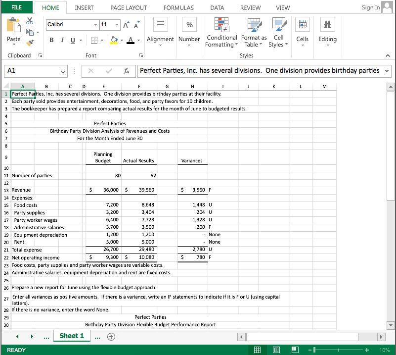 Solved 1 Prepare A Flexible Budget 2 Prepare A Performan