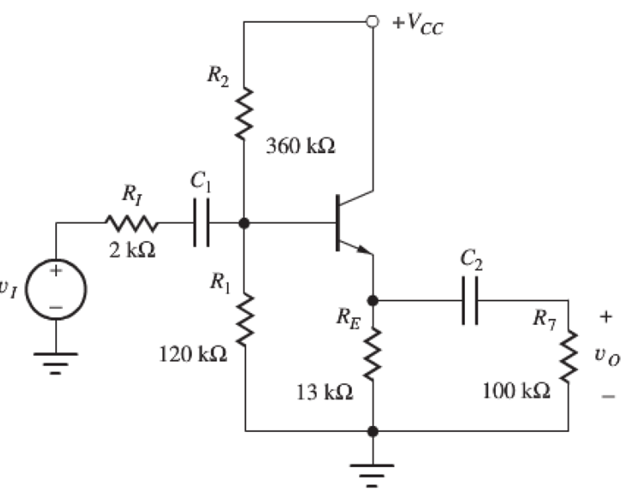 solved  for a bjt amplifier shown below  1  draw a dc equi