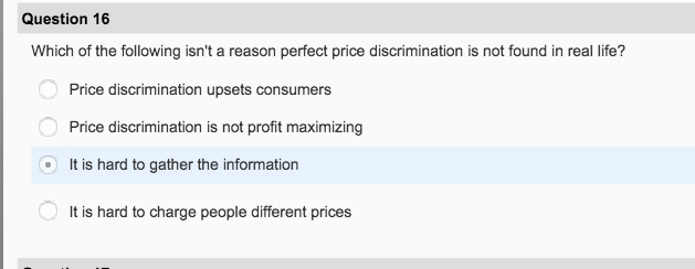 essay questions on price discrimination