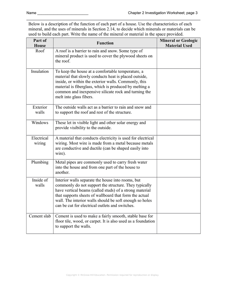 Worksheets Mineral Worksheet solved name chapter 2 investigation worksheet page 3 bel below is a description of the function of