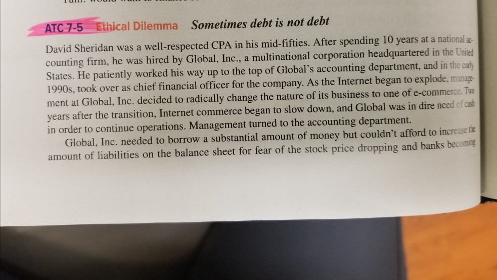 ethical dilemma of financial managers